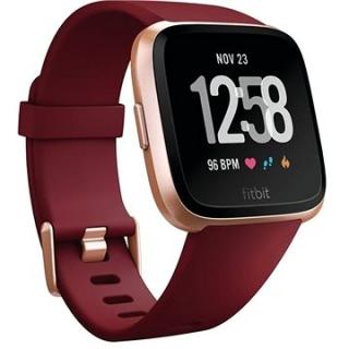 Fitbit Versa - Ruby Band / Rose Gold Aluminum Caset