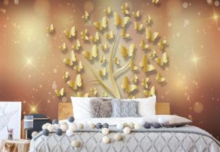 Fototapeta - Butterfly Tree Gold