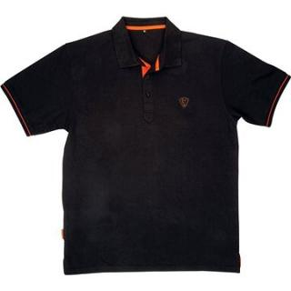FOX Polo Shirt Black/Orange (JVR075102NAD)