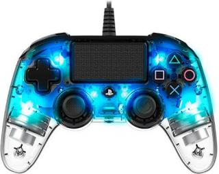 Gamepad Nacon Wired Compact Controller pro PS4 modrý/průhledný (ps4hwnaconwicccblue)