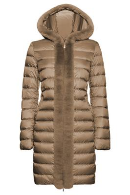 GEOX Dámská bunda Blenda Long Jkt Powder Taupe W8425J-T2449-F5170 42