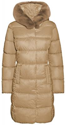 GEOX Dámská bunda Faviola Long Jkt Light Mink W8425K-T2449-F5169 38