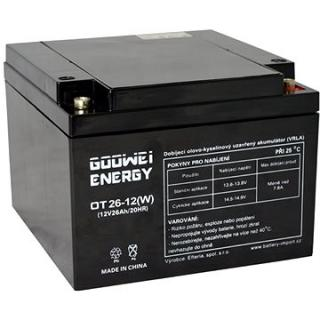 GOOWEI ENERGY OTL26-12, baterie 12V, 26Ah, DEEP CYCLE (OTL26-12)