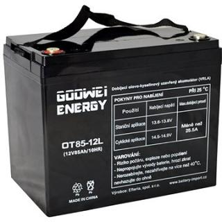 GOOWEI ENERGY OTL85-12, baterie 12V, 85Ah, DEEP CYCLE (OTL85-12)