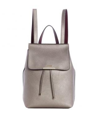 Guess Dámský batoh Varsity Pop Logo Backpack Pewter