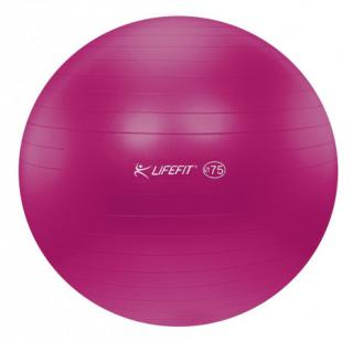 Gymnastický míč LIFEFIT ANTI-BURST 75 cm, bordó