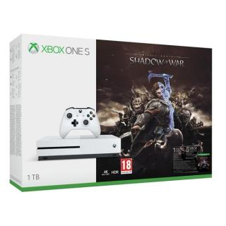 Herní konzole Microsoft Xbox One S 1 TB   Middle-earth: Shadow of War (234-00189)