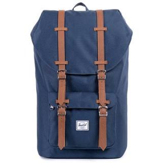 Herschel Little America Navy/Tan Synthetic Leather (828432005932)