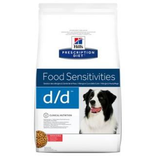 Hills Prescription Diet d/d Food Sensitivities s lososem a rýží - Výhodné balení 2 x 12 kg