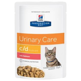 Hills Prescription Diet Feline C/D Multicare s lososem - 12 x 85 g