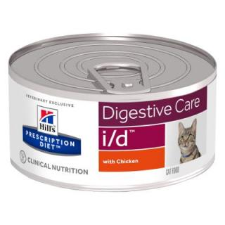 Hills Prescription Diet Feline I/D Digestive Care kuřecí - 12 x 156 g