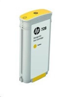 HP 728 130-ml Yellow DesignJet Ink Cartridge, F9J65A