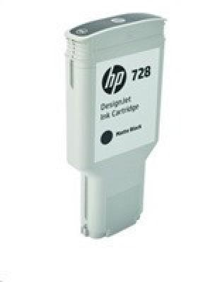 HP 728 300-ml Matte Black DesignJet Ink Cartridge, F9J68A