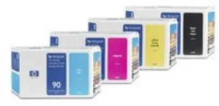 HP 90 Yellow DJ Ink Cart, 400 ml, C5065A, C5065A