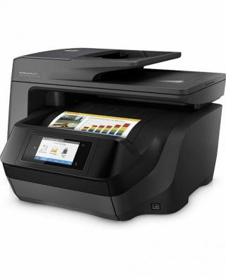 HP All-in-One Officejet Pro 8725 (A4, 24/20 ppm, USB 2.0, Ethernet, Wi-Fi, Print/Scan/Copy/Fax) , M9L80A#625