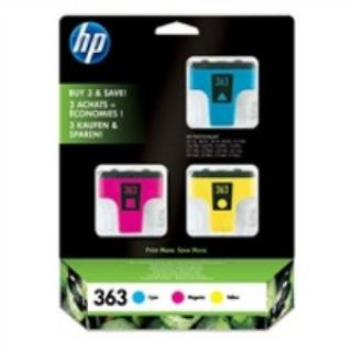 HP CB333EE Ink Cart No.363, cyan 4ml, magenta 3,5ml, yellow 6ml, CB333EE