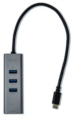 i-tec USB HUB METAL/ 3 porty/ USB 3.0/ USB 3.1 Type C na Gigabit Ethernet adaptér (RJ45)