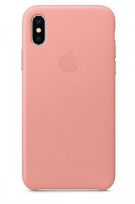 iPhone X Leather Case - Soft Pink