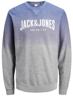 Jack&Jones Pánská mikina Unlimited Sweat Crew Neck Light Grey Melange Reg XL