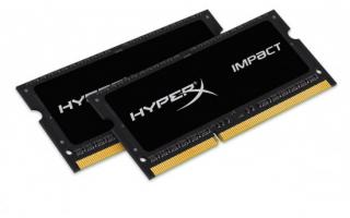 Kingston DDR3L 8GB (Kit 2x4GB) HyperX Impact SODIMM 1.35V 1866MHz CL11 černá, HX318LS11IBK2/8
