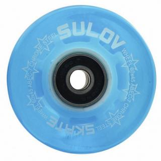 Kolečka Penny board BLUE TRANSPARENT LIGHT 60 x 45mm 85A sada 4ks s ložisky ABEC-7 chrome