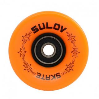 Kolečka Penny board NEON ORANGE 60 x 45mm 85A, sada 4ks, s ložisky