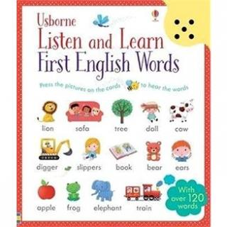 Listen and Learn First English Words: With over 120 words (1409582485)