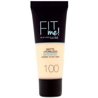 MAYBELLINE NEW YORK Fit Me! Matte & Poreless Make up 100 Warm Ivory 30 ml