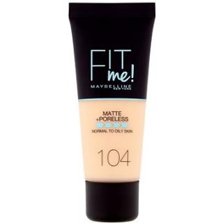 MAYBELLINE NEW YORK Fit Me! Matte & Poreless Make up 104 Soft Ivory 30 ml