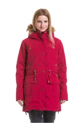 Meatfly Dámská bunda Rainy 3 Parka Raspberry Wine XL