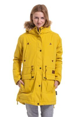 Meatfly Dámská bunda Rainy 3 Parka Yellow S
