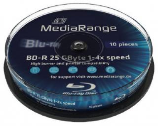 MEDIARANGE BD-R BLU-RAY 25GB 4x Cake 10, MR495