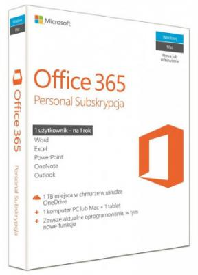 Microsoft Office 365 Personal, 1 Year Subscription - ESD,
