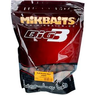 Mikbaits Legends Boilie BigB Broskev Black pepper 24mm 1kg (8595602233830)