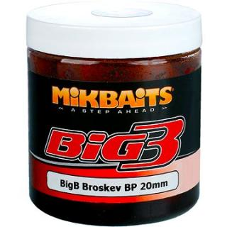 Mikbaits Legends Boilie v dipu BigB Broskev Black pepper 20mm 250ml (8595602233892)