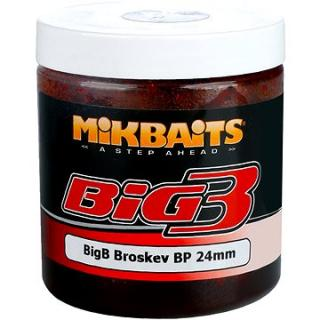 Mikbaits Legends Boilie v dipu BigB Broskev Black pepper 24mm 250ml (8595602233908)