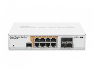 MikroTik Cloud Router Switch CRS112-8P-4S-IN, 8x GLAN s PoE, 4x SFP, CRS112-8P-4S-IN