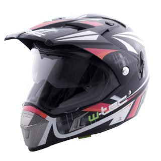 Moto přilba W-TEC NK-311 Cube Black Orange - XL (61-62)