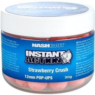 Nash Instant Action Strawberry Crush Pop Ups 12mm 30g (5055108833567)