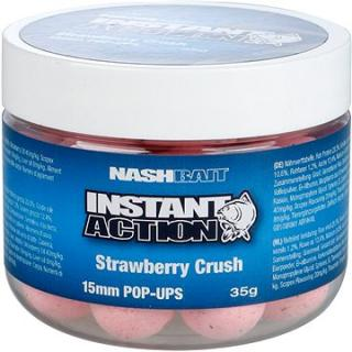 Nash Instant Action Strawberry Crush Pop Ups 15mm 35g (5055108834397)