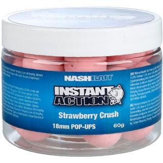 Nash Instant Action Strawberry Crush Pop Ups 18mm 60g (5055108833666)