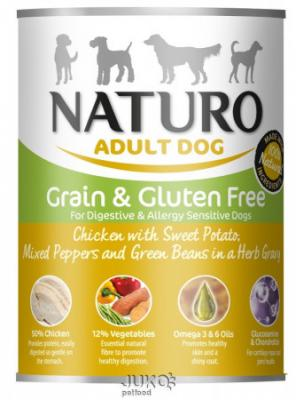 Naturo Dog Chicken-Sweet Potato 390g-konzerva-13312