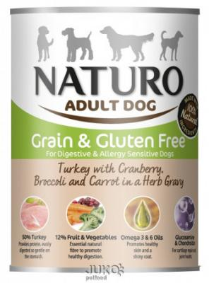 Naturo Dog Turkey-Cranberries 390g-konzerva-13314