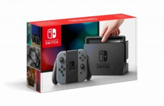 Nintendo Switch console with gray Joy-Con, NSH001