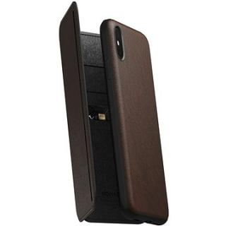 Nomad Folio Leather Tri-Fold Brown iPhone XS Max (NM21TR0H50)