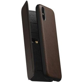 Nomad Folio Leather Tri-Fold Brown iPhone XS/X (NM21FR0H50)