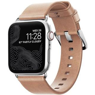 Nomad Leather Strap Modern Natural Silver Apple Watch 40/38mm (NM1A3NSM00)