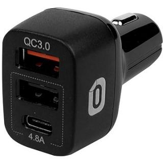 Odzu Car Charger With Quick Charge 3.0 Black (CCH-WQC30-BK)