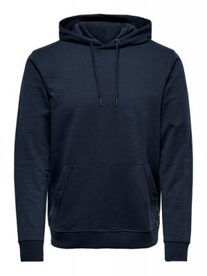ONLY&SONS Pánská mikina Basic Sweat Hoodie Unbrushed Noos Majolica Blue S