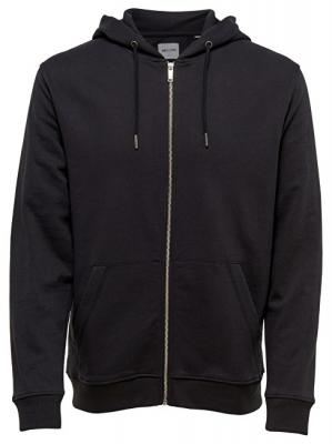 ONLY&SONS Pánská mikina Basic Sweat Zip Hoodie Brushed Noos Black M
